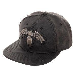 6446616c1f9d4 Bioworld Accessories - VENOM Distressed Faux Leather Snapback Hat MARVEL